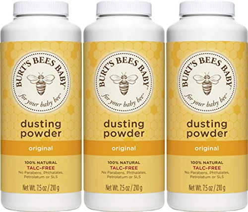 Burt's Bees Baby Bee Dusting Powder, Talc Free, 7.5-Ounce Bottles (Pack of 3)