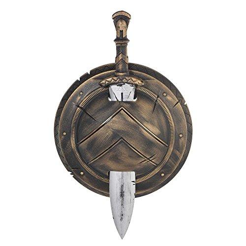 Épée et bouclier en plastique de prop de guerrier de Spartan