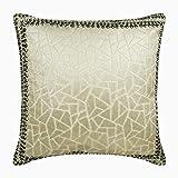 The HomeCentric Dekorativ Elfenbein SofakissenDekokissen, 40 x 40 cm Samt Mosaik & Rand & Folie &...