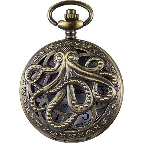 Weird Town Triangle Devil Quartz Pocket Watch Gravity Bill Cipher Fall Time Necklace Pendant Clock Gifts (Bronze B)