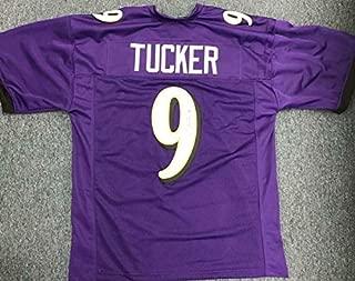 Justin Tucker Autographed Signed Purple Custom Jersey JSA