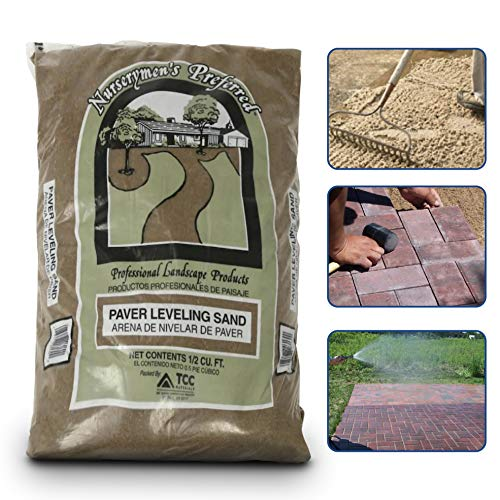 Paver Base Sand Used for Brick, Concrete Block, Paving Stones, Patio Stones and other Hardscapes Use with Polymeric Sand - 50 Pounds