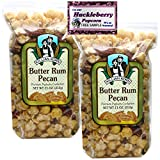 """Killian Korn, Butter Rum Pecan Popcorn Gourmet Confection """"Sooo Yummy"""", Specialty Flavored Popcorn Popped & Delicious, 11 oz (Pack of 2) + Includes-Free Huckleberry Gourmet Popcorn Sample Pack, .50 oz"""