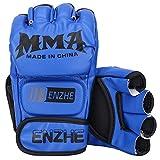 GINGPAI Half Boxing Gloves for Men Women, Training Gloves for Punching Bag, Kickboxing, Muay Thai, MMA, UFC,Boxing Mitts
