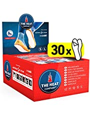 The Heat Company Voetwarmer, klevend, 5 of 30 paar, extra warm, warmtezolen, voetwarmer, 8 uur warme voeten, direct te gebruiken, luchtgeactiveerd, zuiver natuur, maat SMAL: 36-40