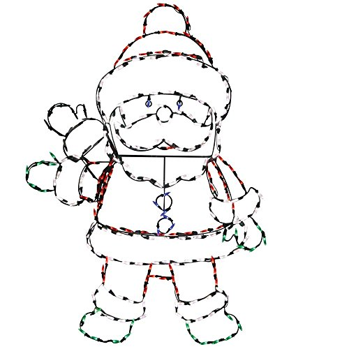 Product Works 48-Inch Pro-Line Animotion Waving Santa Christmas Decoration with 200 LED Lights