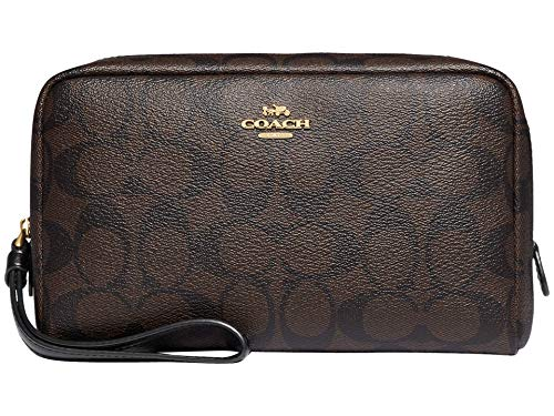COACH Signature Boxy Cosmetic Case 20 Brown/Black One Size