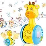 Seamuing Juguetes Bebe 6 Meses Más,Juguetes Musicales para Niños,Juguetes de Vaso de Jirafa Juguete de Sonido con Música y Luz,Juguete Educativo Temprano Regalos para Niños Niñas