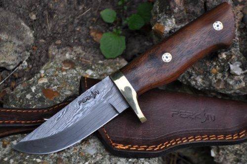 Perkin Handgemachtes Damast Jagdmesser - AR100