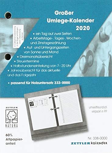 Umlegekalender-Ersatzblock 2020 Nr. 338-0000