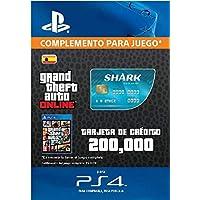 Grand Theft Auto Online - GTA V Cash Card | 200,000 GTA-Dollars | Código de descarga PS4 - Cuenta Española