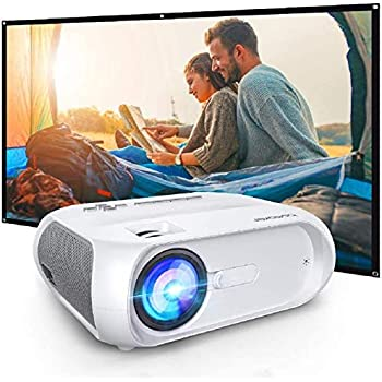 "WiFi Projector 5500 Full HD, Ultra Portable Projector for Outdoor Movies, Wireless Mirroring, 300"" Display"
