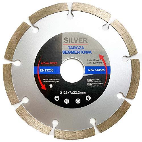 Diamantscheibe 125mm - Profi Qualität für Beton, Granit, Stein, Pflaster uvm. Diamant-Trennscheibe geeignet für den beruflichen Dauereinsatz