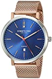 Kenneth Cole New York Men's Diamond Japanese-Quartz Watch with Stainless-Steel Strap, Rose Gold, 19.8 (Model: KC50924003)