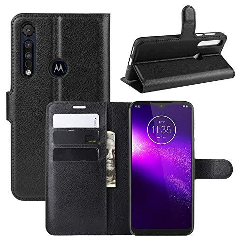 Capa Capinha Carteira 360 Para Motorola Moto G8 Play Tela De 6.2Polegadas Case Couro Flip Wallet - Danet (Preto)