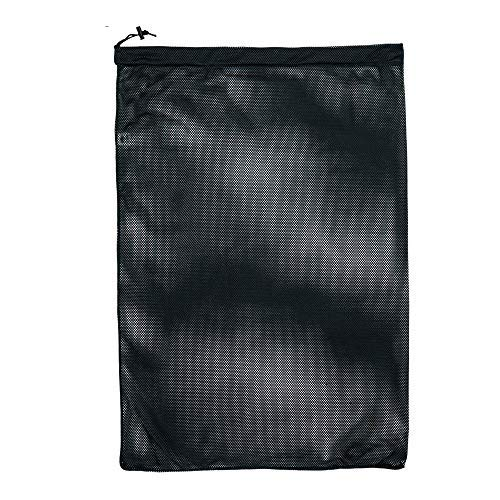 SGT KNOTS 550 Paracord Mesh Bag, Reusable Polyester Bag for Gym, Laundry, Swimming (15x22 in, Black)