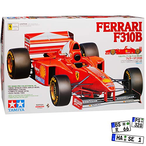 Ferrari F310B Formel 1 Michael Schumacher 1997 20045 Kit Bausatz 1/20 Tamiyia Modell Auto mit individiuellem Wunschkennzeichen