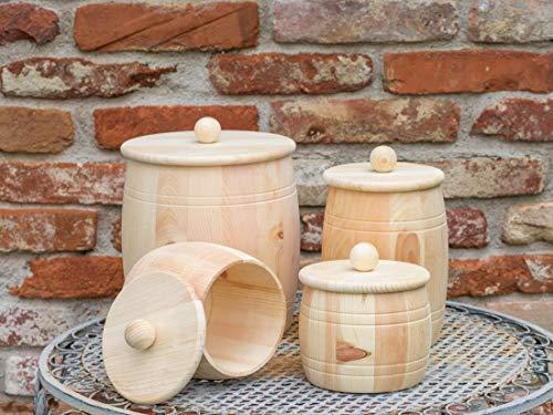 Vorratsdose aus Zirbenholz mit Holzdeckel, Größe L, 1500ml Füllmenge für Getreide, Mehl, Urkorn, Gries, Reis, uvm. Handgefertigt in Österreich