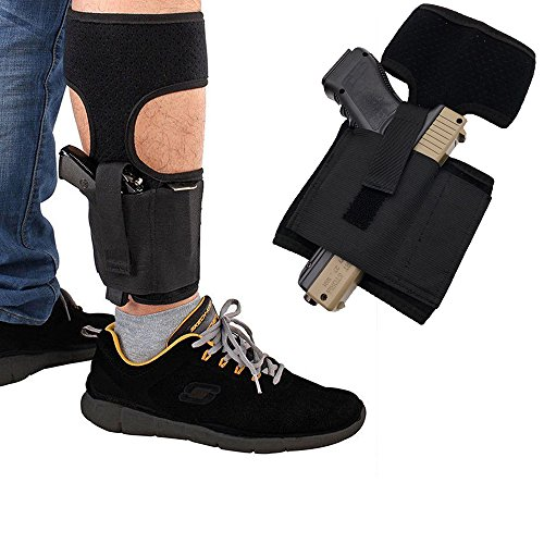 """Gazelle Trading Ankle Holster 8"""" - 13'' for Concealed Carry Pistol - Ruger LCP 380 Sig P238 Kimber Solo S&W M&P Shield 9mm"""