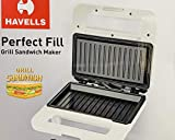 Havells Perfect Fill 750 W Grill Sandwich Maker (White)