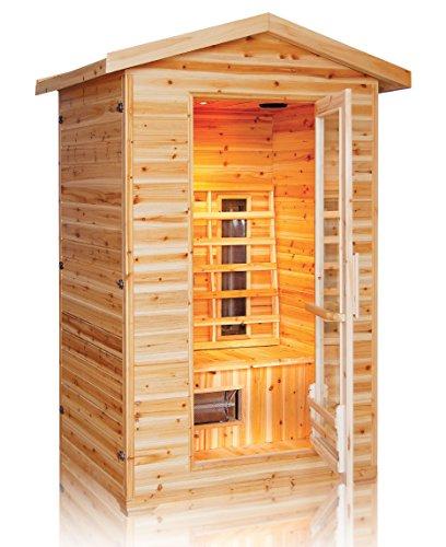 Trade-Line-Partner Infrarotkabine/Wärmekabine/Sauna - ECK ! 3 Personen Außenbereich Outdoor