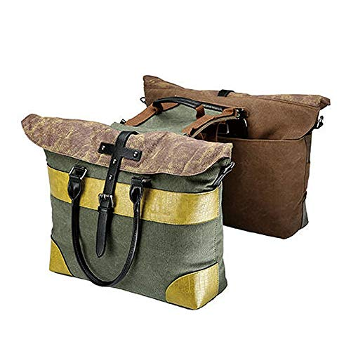 Yinglihua Fietstas Canvas Fiets Riding Dubbele Zijkant Trunk Bag Bagage Bag Multi-functie Stad Fietstas Multifunctionele Road Mountain Bike Bag