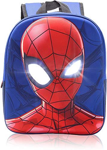 Spiderman Backpack for Boys Junior School Bag for Kids Spider Man Marvel Superheroes Rucksack 3D Toddlers Pack