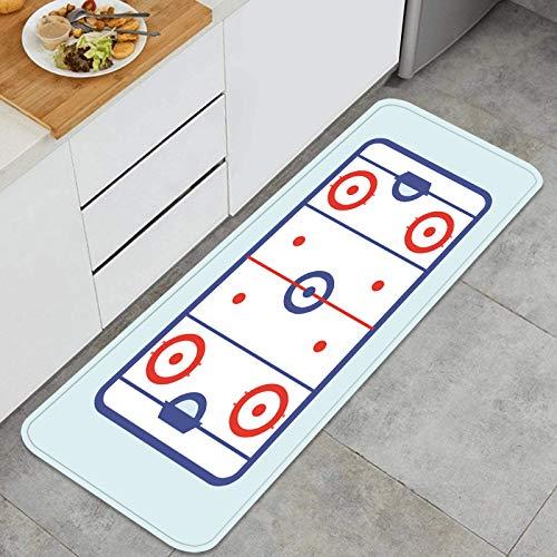 AndrewTop Cocina Antideslizante Alfombras de pie Juegos de futbolín Decoración de Piso Confortables para el hogar, Fregadero, lavandería-120cm x 45cm