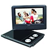 SuperSonic SC-257 Portable DVD Player 7' and Digital TV: USB and SD inputs with Built-in Lithium Ion Battery and Swivel Display