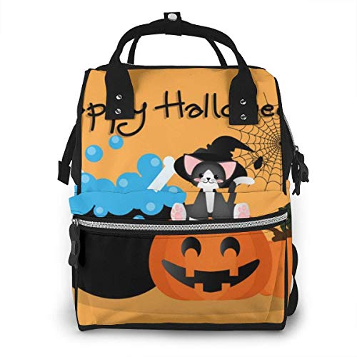NHJYU Sac à langer, Large Capacity Waterproof Travel Ma-na-ger,baby Care Replacement Bag Versatile Stylish And Durable, Suitable For Mom And Dad,Happy Halloween Background Vector Image