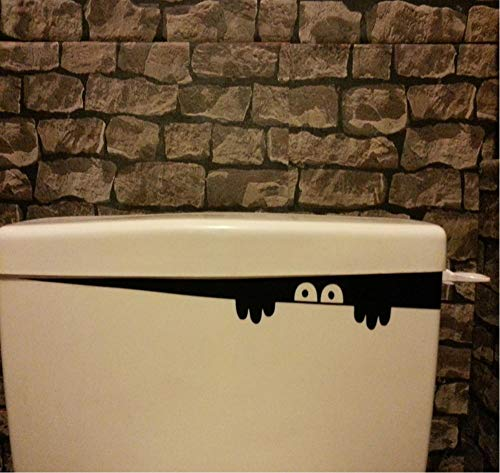 Muursticker 3D muursticker wc stick gat aanzicht levendig monster badkamer huishoudtextiel dier vinyl applique kunst wand poster 40cm x 4cm