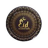 Ramadan-Kareem-Eid-Mubarak Dekorationen Einwegteller Papiertablett für Zuhause Tisch islamisch...