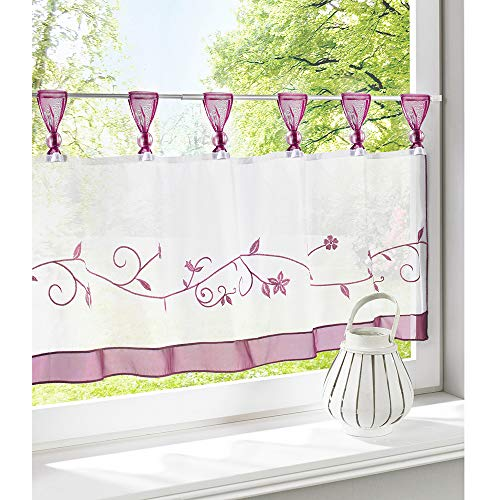 Embroidered Voile Sling Small Coffee Curtain,Semi Sheer Half Curtain Short Window Curtains For Kitchen Patio Bathroom Living Room D 60x145cm(24x57inch)