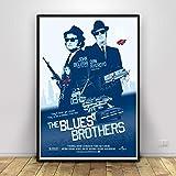 Flduod Vintage Blue Brothers Poster Print Film TV-Serie