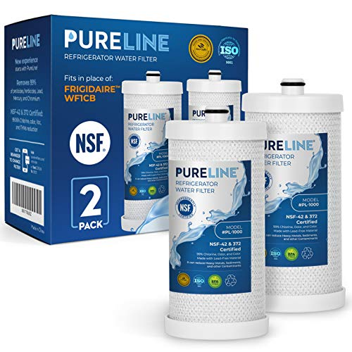 PureLine WFCB & NGRG 2000 Water Filter Replacement. Compatible with WF1CB, WFCB, NGRG 2000, RG-100 (2 Pack)