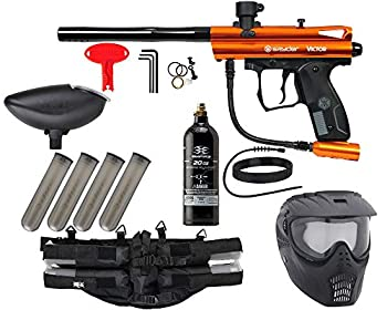 Action Village Kingman Spyder Epic Paintball Gun Package Kit  Victor   Orange