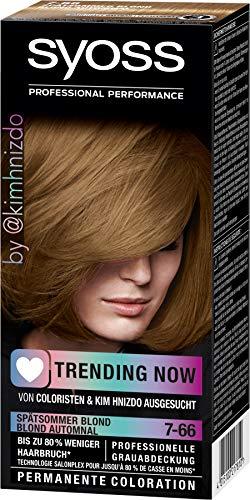 Syoss Coloration 7-66 Spätsommer Blond Trending Now, 1er Pack (1 x 115 ml)