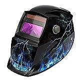 LEXPON Welding Helmet Automatic Solar Welding Shield Adjustable Grinding ARC TIG MIG(Lightning with Skull)