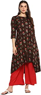 STOP by Shoppers Womens Round Neck Floral Print Kurta
