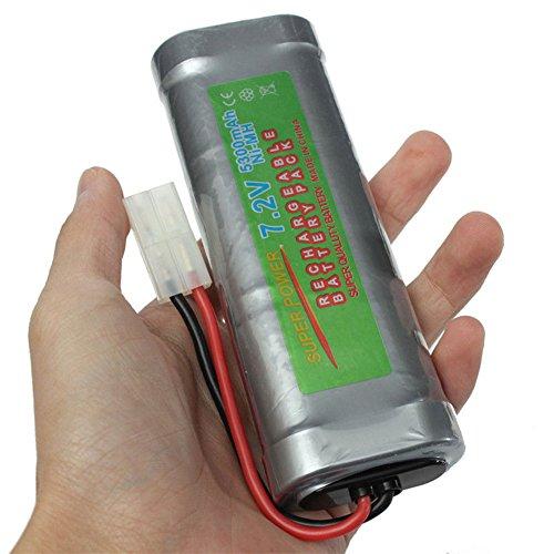 ACHICOO Dauerhafte vorzügliche große Kapazität 7.2V 5300mAH NI-MH Akku für RC Auto Boot elektrische Modell Spielzeug Spaßgeschenke für Kinder