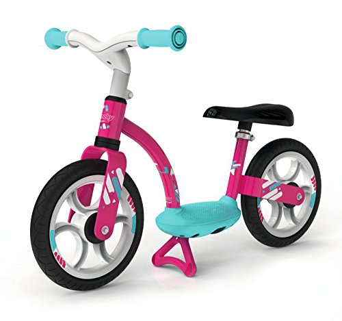 Smoby - Draisienne Confort - Vélo Enfant Léger avec Béquille - Selle Réglable - Roues Silencieuses - Rose - 770123
