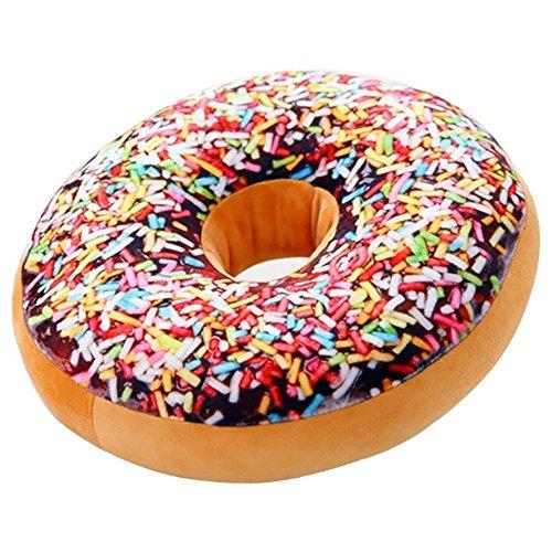 Gefülltes Kissen im Donut-Design, Plüsch, als Spielzeug-Puppe, Lehne für die Familie, Bürostuhl, Auto-Sitz geeignet, 40,6x 40,6cm Flower world