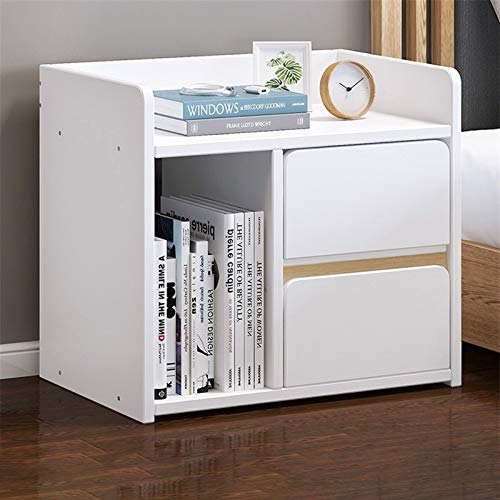 YYOBK 2-Drawer Nightstand,Wood Accent Table, End Table,Side Table, Night Stand, Bedside Table,Storage Lockers,Bookcases, Bedside Furniture For Home Bedroom Office College Dorm
