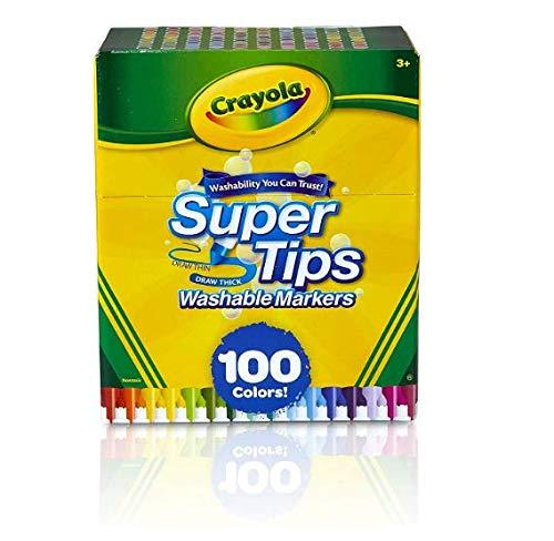 Crayola, Canetinha Super Tip, 100 cores (Estoque no Brasil- sem risco de tributação)