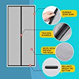 Lifekrafts Polyester Mosquito Screen Curtain for Main Doors Mesh with Magnets (Black, 210 x 90 Cms) velcro rollers Nov, 2020