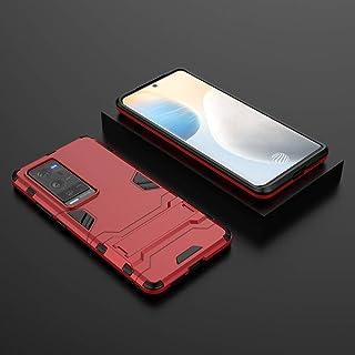جراب خلفي لهاتف Vivo X60 Pro Plus، [2 في 1] طبقة مزدوجة من البولي يوريثان الحراري + جراب واقٍ من الصدمات من البولي كربونات...