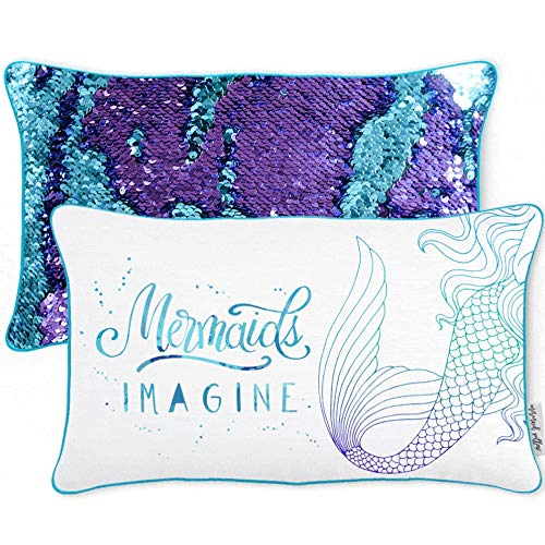 Mermaid Pillow w/Reversible Sequins (Cover Only)