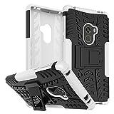 Rockwey Funda para Xiaomi Mi Mix 2,cáscara del teléfono,la Banda de Rodadura/Armor Tough,Manguito Protector bicapa Mixto Resistente a los Golpes,Anti-Deslizamiento,TPU+PC(Blanco)