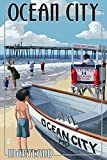 Ocean City, Maryland - Lifeguard Stand (9x12 Collectible Art Print, Wall Decor Travel Poster)
