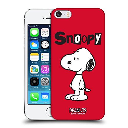 Head Case Designs Licenza Ufficiale Peanuts Snoopy Personaggi Cover Dura per Parte Posteriore Compatibile con Apple iPhone 5 / iPhone 5s / iPhone SE 2016